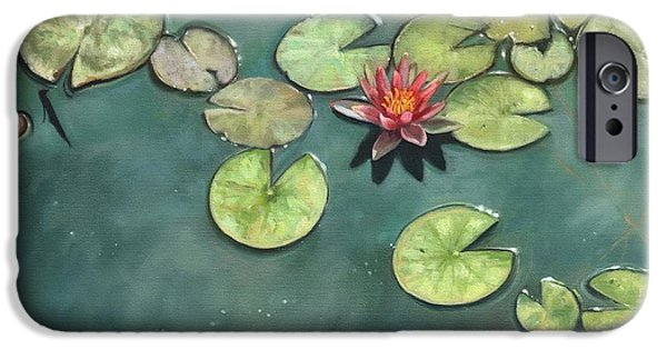 Flora iPhone Cases - Lily Pond iPhone Case by David Stribbling
