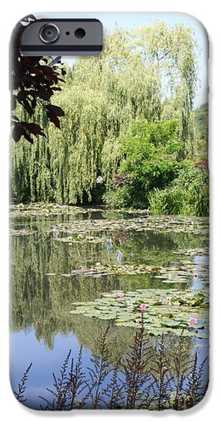 Painter Photographs iPhone Cases - Lily Pond - Monets Garden - France iPhone Case by Christiane Schulze Art And Photography