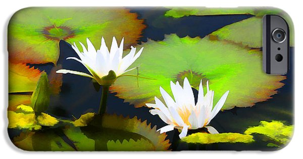 Artistic Photography iPhone Cases - Lily Pond iPhone Case by Tom Prendergast