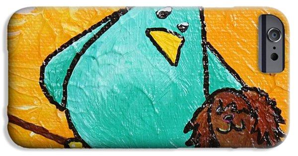 Birds On Limbs iPhone Cases - Limb Birds - Bird Dog iPhone Case by Linda Eversole
