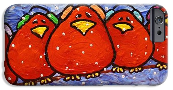 Birds On Limbs iPhone Cases - Limb Birds - Polar Vortex iPhone Case by Linda Eversole