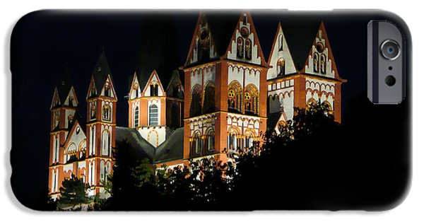 Limburg iPhone Cases - Limburg Cathedral at night iPhone Case by Jenny Setchell