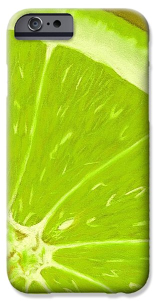 Organic Pastels iPhone Cases - Lime iPhone Case by Anastasiya Malakhova