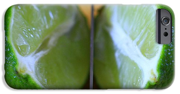 Lime iPhone Cases - Lime Halves iPhone Case by Dan Sproul