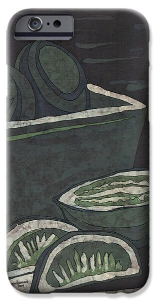 Food And Beverage Tapestries - Textiles iPhone Cases - Lime iPhone Case by Kevin Houchin