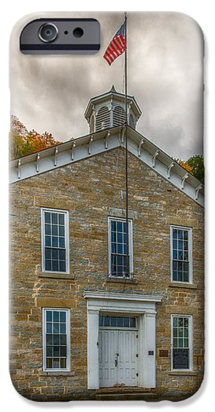 Recently Sold -  - Village iPhone Cases - Limestone School House iPhone Case by Paul Freidlund