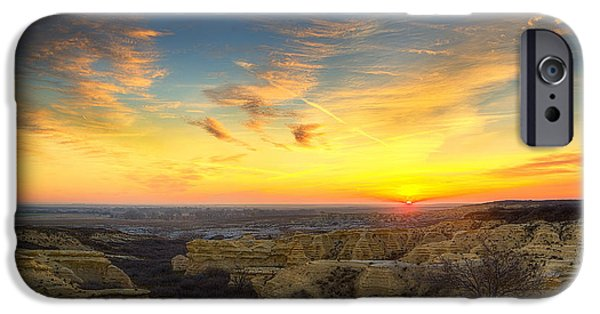 Drama iPhone Cases - Limestone Sunrise iPhone Case by Thomas Zimmerman