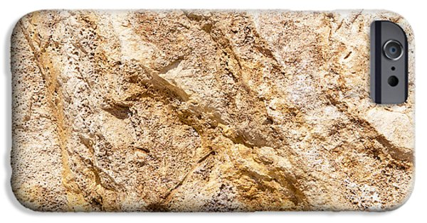 Dave iPhone Cases - Limestone Textures 9 iPhone Case by David Hare