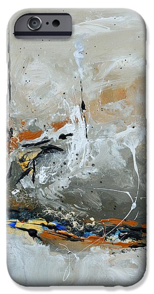 Limitless 1 - Abstract Painting iPhone Case by Ismeta Gruenwald