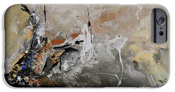 Ismeta iPhone Cases - Limitless - Abstract Painting iPhone Case by Ismeta Gruenwald