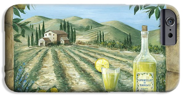 Vineyard Landscape iPhone Cases - Limoncello iPhone Case by Marilyn Dunlap
