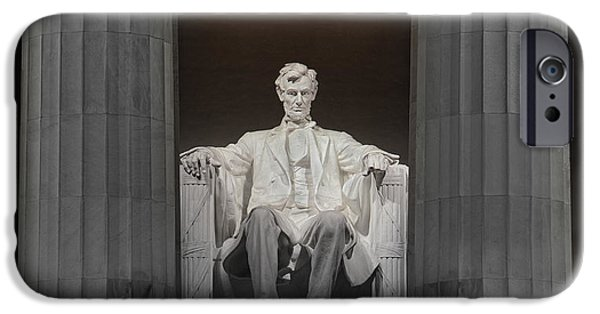 Lincoln Speech Digital iPhone Cases - Lincoln and Columns iPhone Case by Jerry Fornarotto
