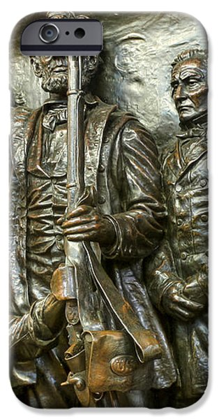 Lincoln arming the freed slaves iPhone Case by David Bearden