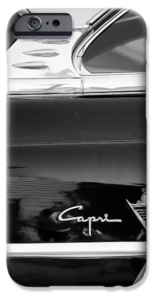 Lincoln Photographs iPhone Cases - Lincoln Capri Emblem iPhone Case by Jill Reger