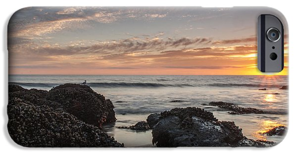 Beach iPhone Cases - Lincoln City Beach Sunset - Oregon Coast iPhone Case by Brian Harig