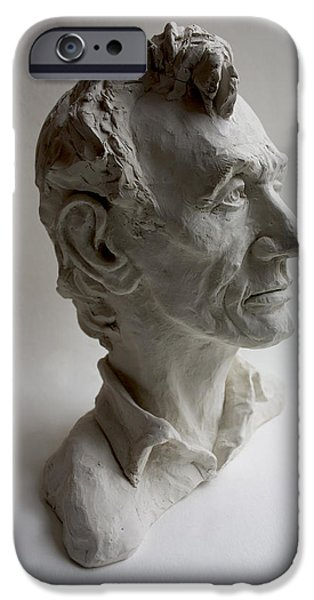 President Sculptures iPhone Cases - Lincoln iPhone Case by Derrick Higgins