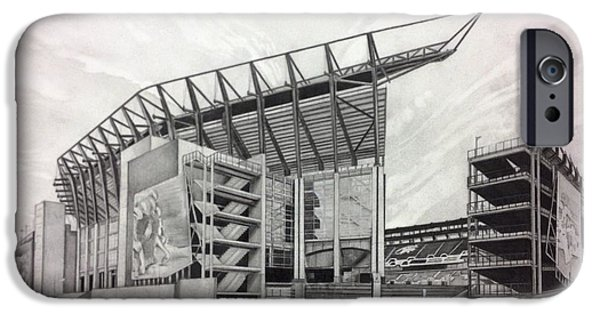 Support Drawings iPhone Cases - Lincoln Financial Field iPhone Case by Gary Reising