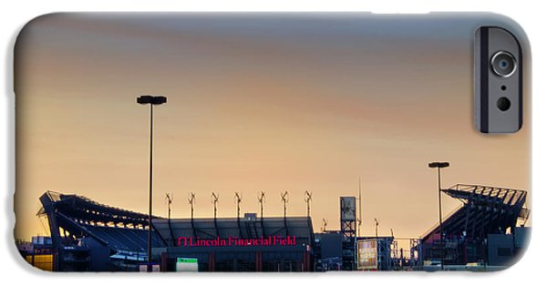 Philadelphia Phillies Stadium Digital iPhone Cases - Lincoln Financial Field in a New Light iPhone Case by Bill Cannon