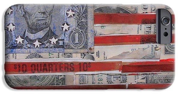 Google Mixed Media iPhone Cases - Lincoln Flag iPhone Case by Karen Serfinski
