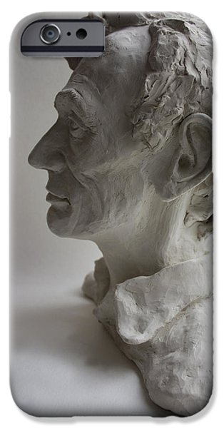 United States Sculptures iPhone Cases - Lincoln-Honest Abe iPhone Case by Derrick Higgins
