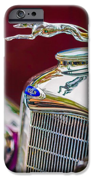 Lincoln iPhone Cases - Lincoln Hood Ornament - Grille Emblem -1187c iPhone Case by Jill Reger