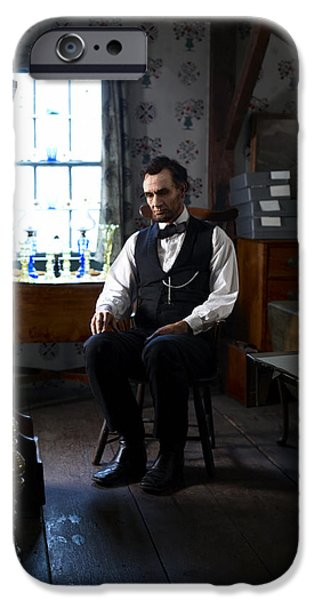 Politician Digital iPhone Cases - Lincoln in the Attic 2 iPhone Case by Ray Downing