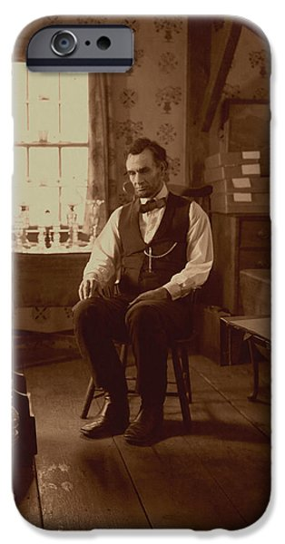Lincoln in the Attic iPhone Case by Ray Downing