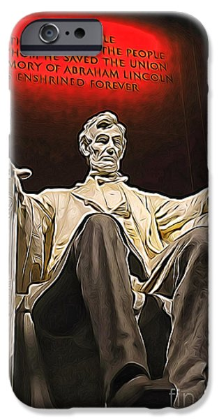Lincoln Speech Digital iPhone Cases - Lincoln iPhone Case by Mr Fotog