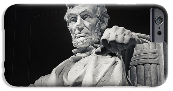 Patriotism iPhone Cases - Lincoln iPhone Case by Joan Carroll
