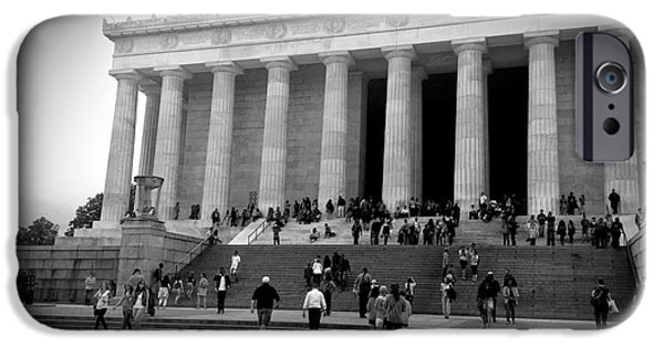 Washingtondc iPhone Cases - Lincoln Memorial a Beloved President iPhone Case by David Shelton