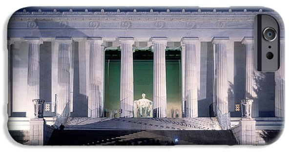 Facade iPhone Cases - Lincoln Memorial At Dusk, Washington iPhone Case by Panoramic Images