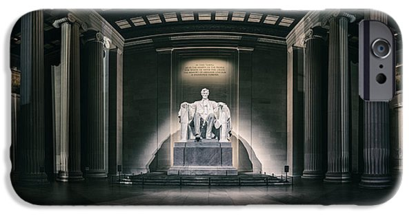 President Obama iPhone Cases - Lincoln Memorial iPhone Case by Eduard Moldoveanu