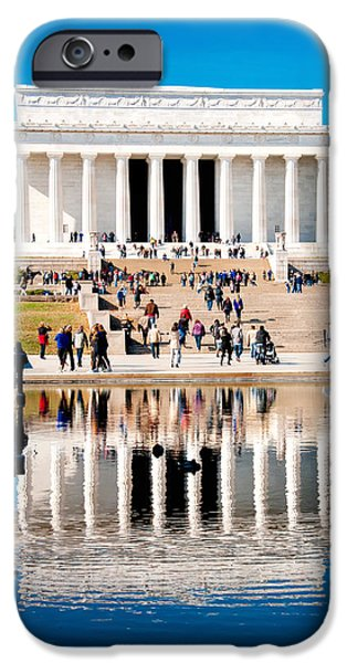 Smithsonian iPhone Cases - Lincoln Memorial iPhone Case by Greg Fortier