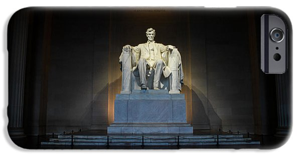 Lincoln iPhone Cases - Lincoln Memorial  iPhone Case by Jerry Coli