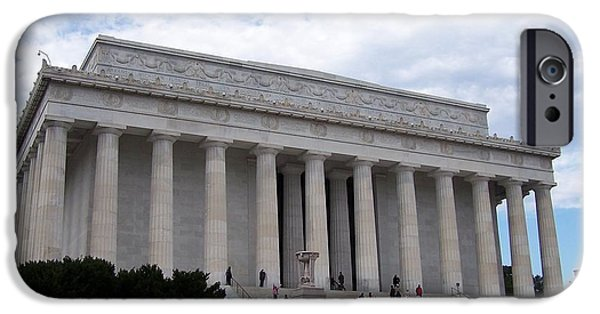 Lincoln iPhone Cases - Lincoln Memorial iPhone Case by Jewels Blake Hamrick
