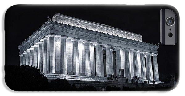 Patriotism iPhone Cases - Lincoln Memorial iPhone Case by Joan Carroll