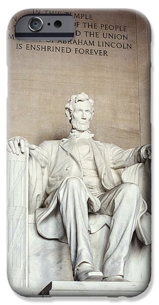 Lincoln iPhone Cases - Lincoln Memorial iPhone Case by Lisa Russo