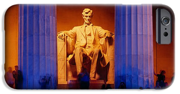Freedom iPhone Cases - Lincoln Memorial, Washington Dc iPhone Case by Panoramic Images