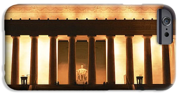 President iPhone Cases - Lincoln Memorial Washington Dc Usa iPhone Case by Panoramic Images