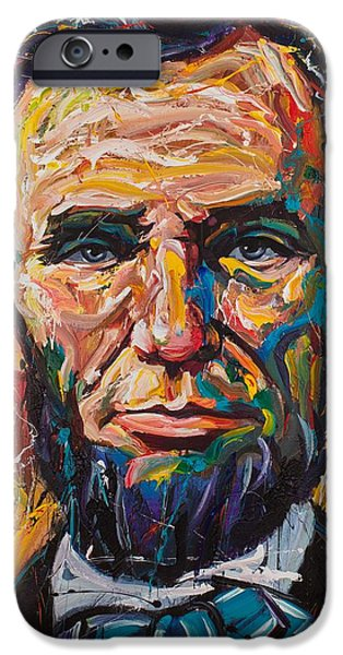 Lincoln iPhone Cases - Lincoln iPhone Case by Michael Wardle