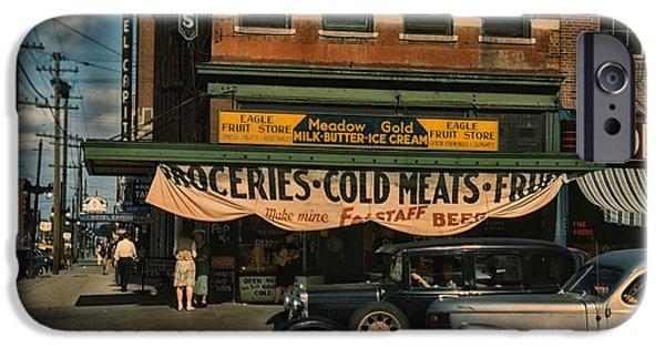 Nebraska iPhone Cases - Lincoln Nebraska in Color 1942 iPhone Case by Mountain Dreams