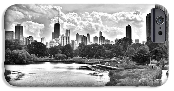 Chicago Cubs iPhone Cases - Lincoln Park Black and White iPhone Case by Frozen in Time Fine Art Photography