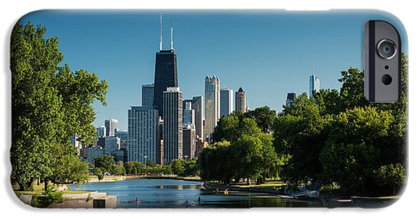 Lincoln iPhone Cases - Lincoln Park Chicago iPhone Case by Steve Gadomski