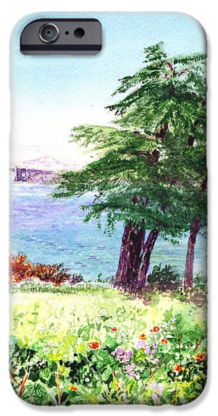 Lincoln Paintings iPhone Cases - Lincoln Park in San Francisco iPhone Case by Irina Sztukowski
