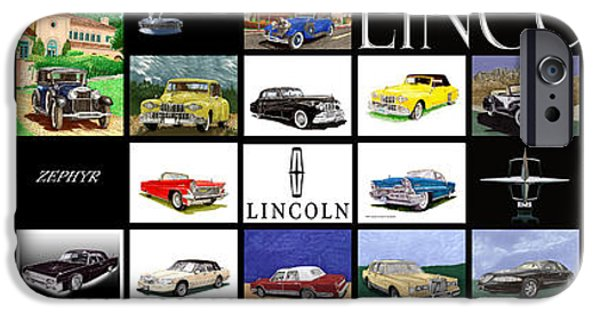 Lincoln iPhone Cases - Lincoln Poster iPhone Case by Jack Pumphrey