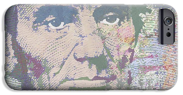 Abraham Lincoln Canvas iPhone Cases - Lincoln Reimagined Horizontal iPhone Case by Tony Rubino