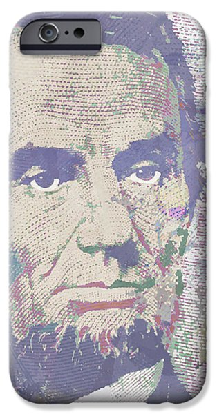 Abraham Lincoln Canvas iPhone Cases - Lincoln Reimagined Vertical iPhone Case by Tony Rubino