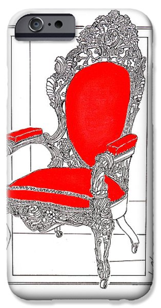 Furniture iPhone Cases - Lincoln Sat Here iPhone Case by Ira Shander