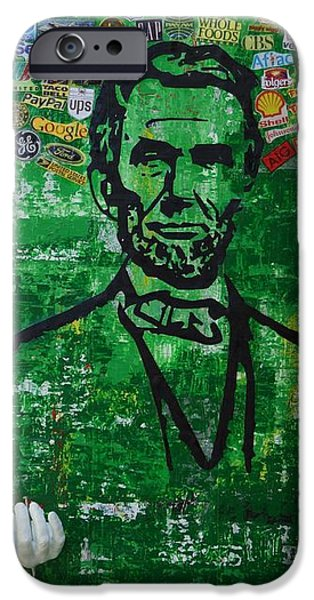 1865 Mixed Media iPhone Cases - Lincoln- Texas iPhone Case by Alireza Vazirabadi
