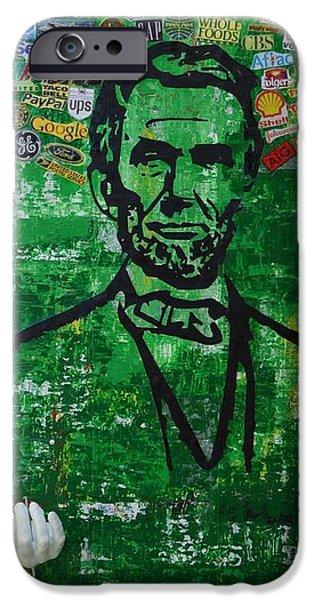 16th President Mixed Media iPhone Cases - Lincoln- Texas iPhone Case by Alireza Vazirabadi